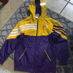Kids Adidas jacket Los Lakers